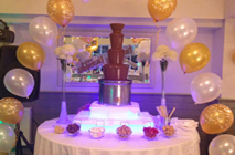 Ballons and Chocolate Fountain